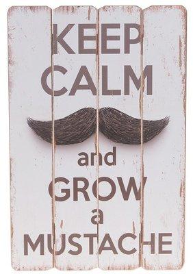 Tekstbord   Keep calm/Mustache