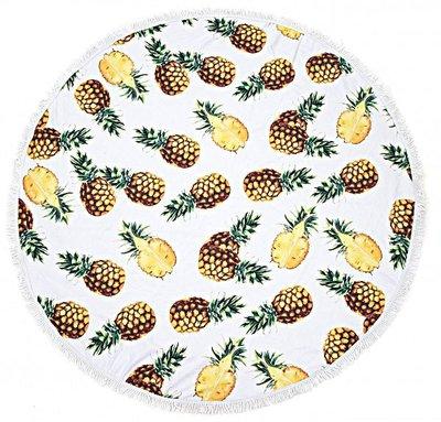 Strandlaken/Roundie Ananas/150 cm