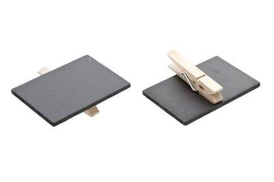 Krijtbord met knijper/Cadeau- of Servet-Krijtbord set 6 DIY