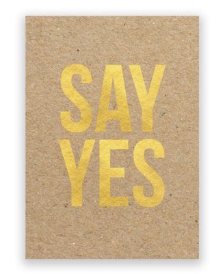 Kaart | SAY YES +enveloppe