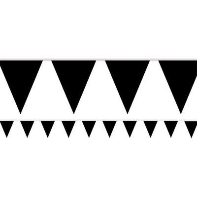 Vlaggenlijn papier zwart 4,5 meter.
