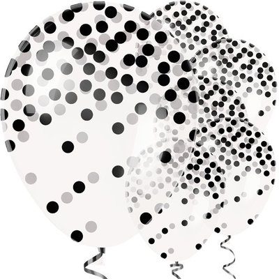 Ballonnen | confetti | Zwart-Wit