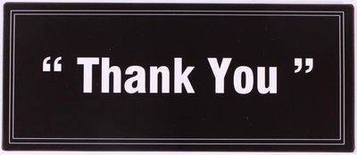 Tekstbord | Thank you