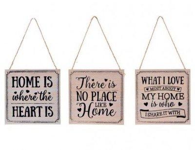 Tekstbord | Home 3 soorten