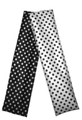 Haarband  zwart wit Stippen set 2
