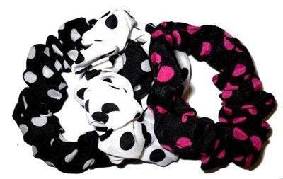 Haarbandjes Elastisch Stippen set 3 stuks