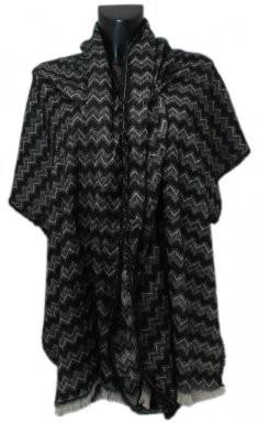 Sjaal | Omslagdoek Grijs/zwart