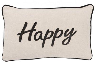 Kussen Happy Katoen