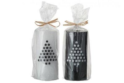 Kaarsen Kerst zwart wit | J line