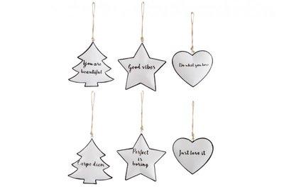 Kerstboomhanger met tekst