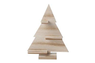 Kerstboom   Hout 33 cm.