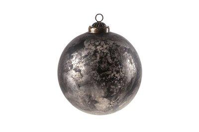 Kerstbal  zwart 12 cm