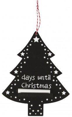 Kerstboom | Krijtbord dagen tot Kerst