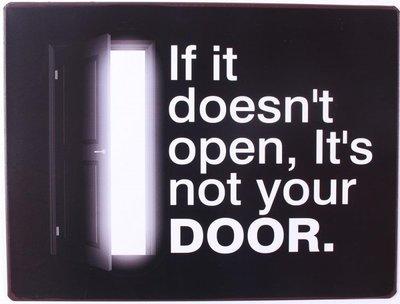 Tekstbord |not your door