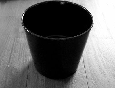 Bloempot Zwart 19 cm