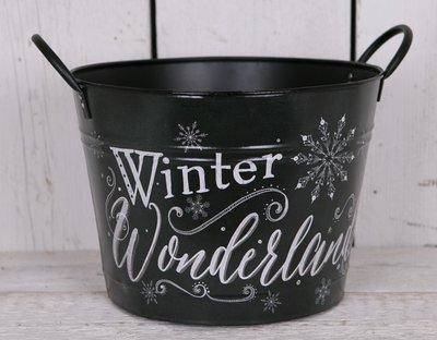 Bloempot Wonderland/Kerst 34 cm.