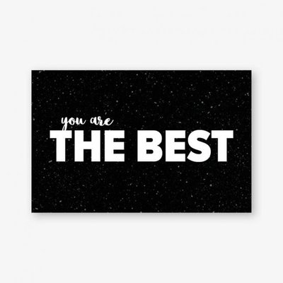 Cadeaukaartje | You are the best