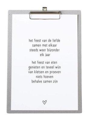 Poster Kerst |feest van de liefde..
