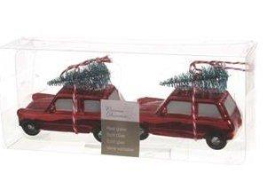 Kerst-auto's met Kerstboom set 2