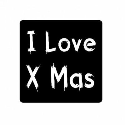 Stickers |I Love X mas | 10 x