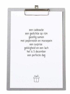 Sinterklaas gedicht Poster op board