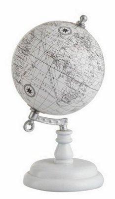Wereldbol | Globe | Wit