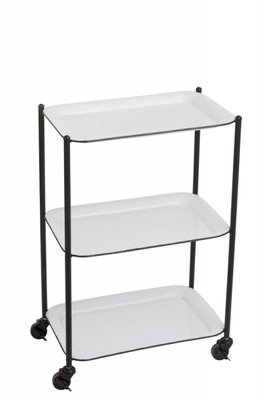 Butlertray  Metal White/Black/Trolley