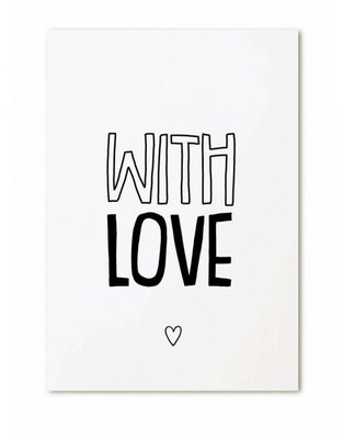 "Cadeaukaartje ""With Love"""