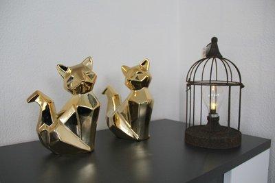 Vos Aardewerk 2 assorti / goud kleur
