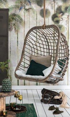 Hangstoel voor 2 personen Rotan  /  J-LINE