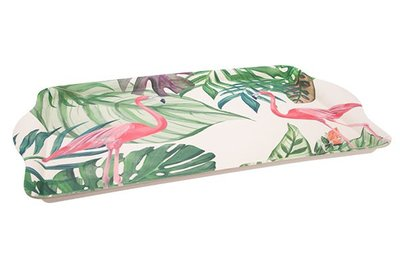 Dienblad | Tropical 45,5 cm Flamingo