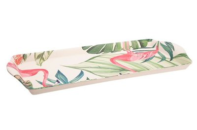 Dienblad | Tropical 38,3 cm Flamingo