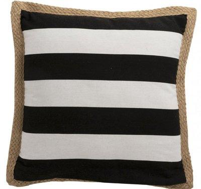 Kussen Zwart Wit 48 x 48 J LINE