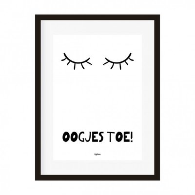 Poster | Oogjes toe