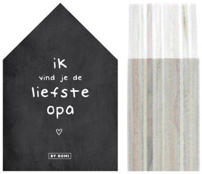 Huisje | Liefste Opa wit of zwart