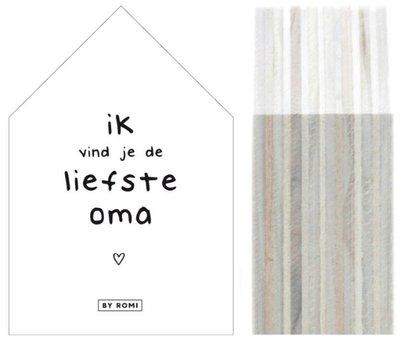 Huisje | Liefste Oma wit of zwart