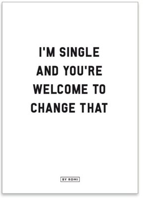 Kaart I'm Single...