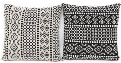 Kussen Monochrome Aztec Print set 2
