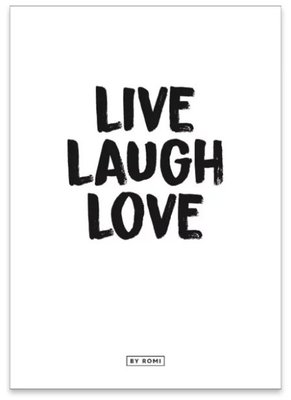 Kaart Live Laugh Love
