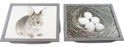 Knietafel | Schootkussen Konijn/Eieren