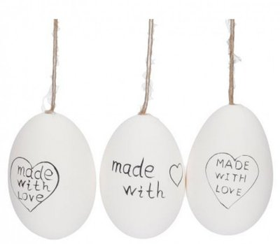 Paaseieren | Made with love| S/12 Breekbaar