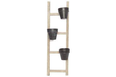 Bloempotten aan ladder H 54,5 cm. Plantenstandaard