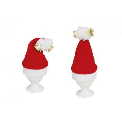 Eierwarmers Kerstmuts Set 2