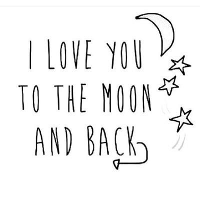 Photoblock | Love you to the Moon...