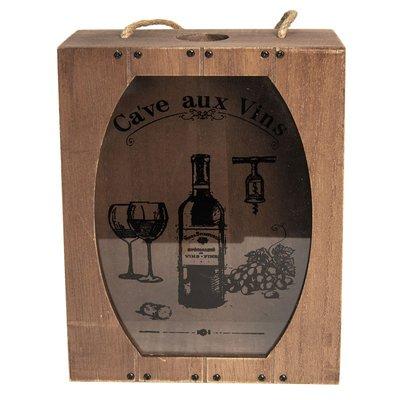 Wijn kurk houder Clayre & Eef