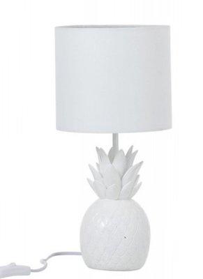 Lamp Ananas Polyresin Wit
