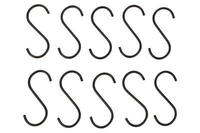 Haak S-Vorm Metaal Zwart 15,5 cm