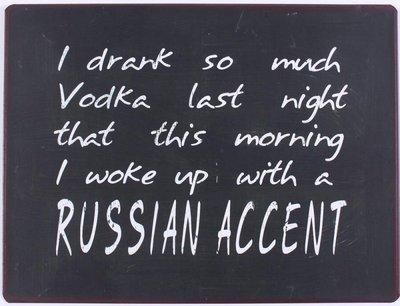Tekstbord | I drank so much vodka...