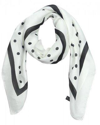 Sjaal | wit met zwarte stippen