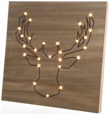 Rendier LED Hout